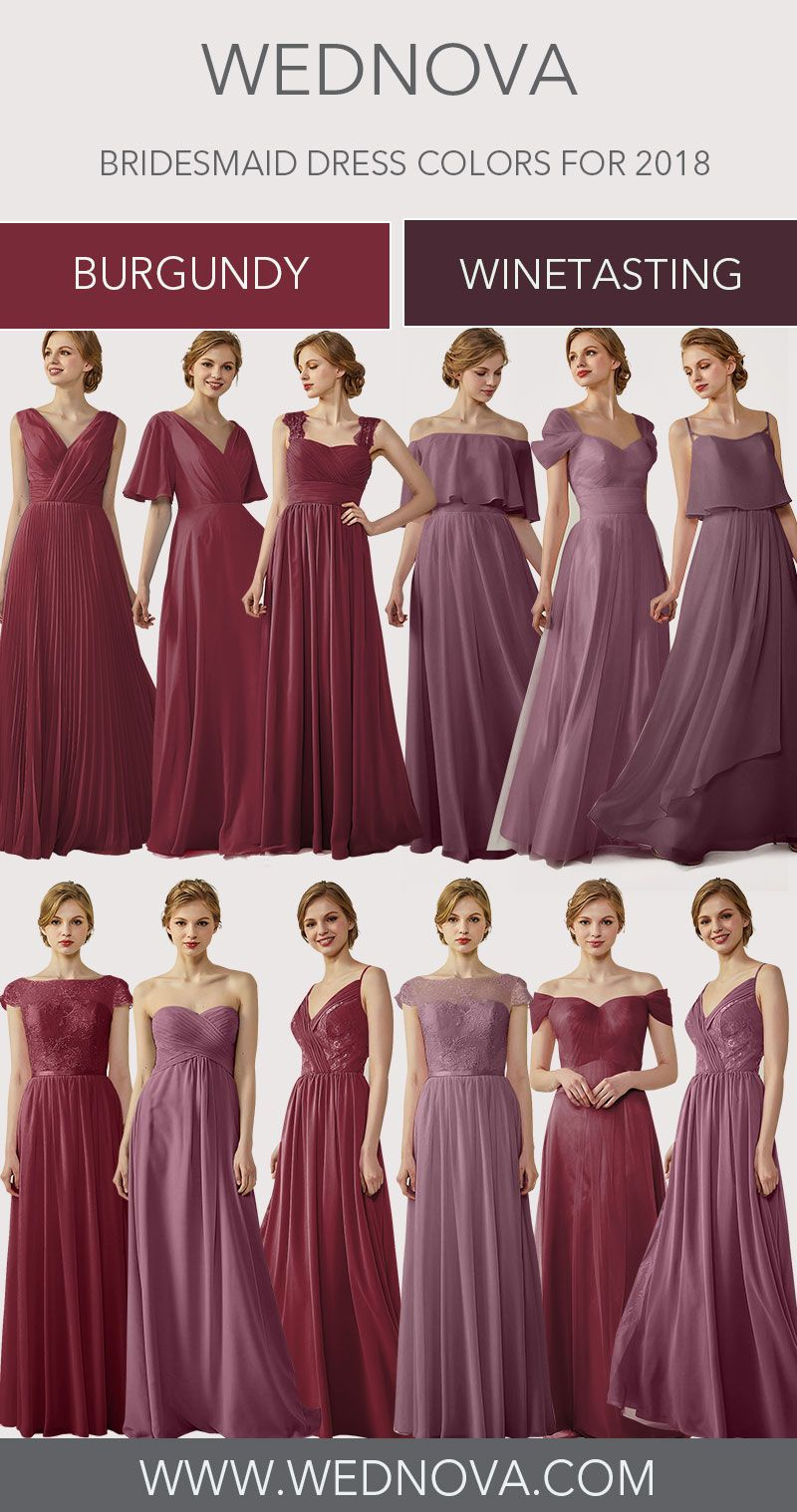 Perfect v neck bridesmaid dress chiffon burgundy a line dress for