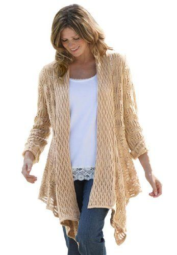 Woman Within Plus Size Cardigan Sweater, Open Front (Khaki,M) Woman Within, http://www.amazon.com/dp/B006P2ZVIS/ref=cm_sw_r_pi_dp_EmTMqb1V750MV
