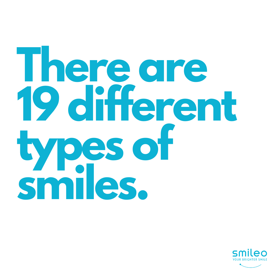 Many of us don't know that there are 19 different types of smiles. :) Smiling is not only good for your health, it also can make others like you. #Brighterteeth #smileo #TeethWhitening #OralCare #Beauty #BeautyProducts #NaturalProducts #AllNatural #AtHomeWhitening #BrighterSmile #VeganProduct #OralCosmetics #CrueltyFree #CrueltyFreeBeauty #CrueltyFreeCosmetics #OralCareRoutineBeautyProducts #facts #beautyfacts #smilingisattractive #typesofsmiles