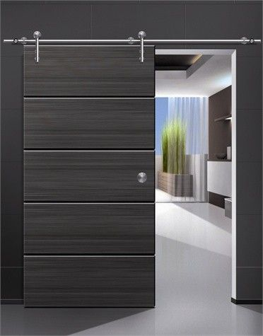 Modern barn door hardware for wood door modern for Modern barn home interiors