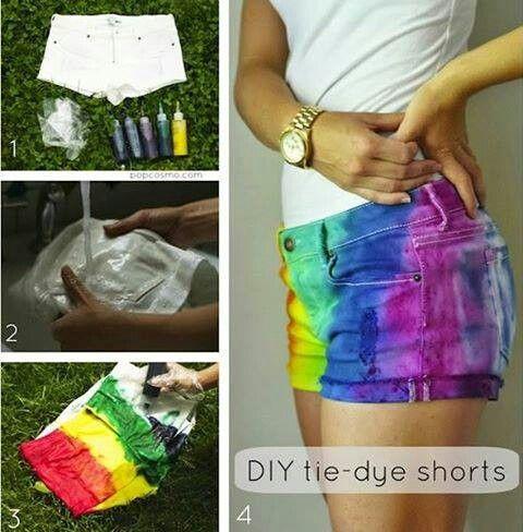 Pintar un pantalón corto de verano short