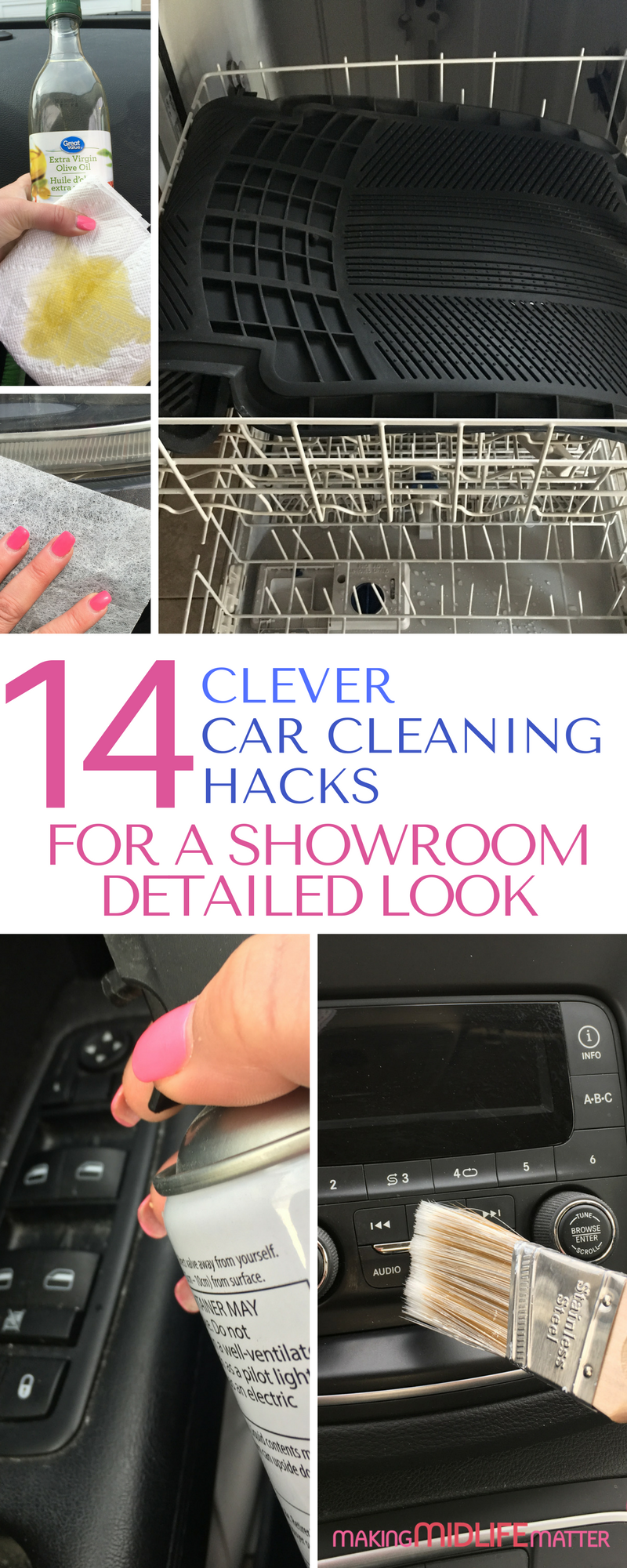 14 Clever Car Cleaning Hacks For A Showroom Detailed Look | Making Midlife Matter