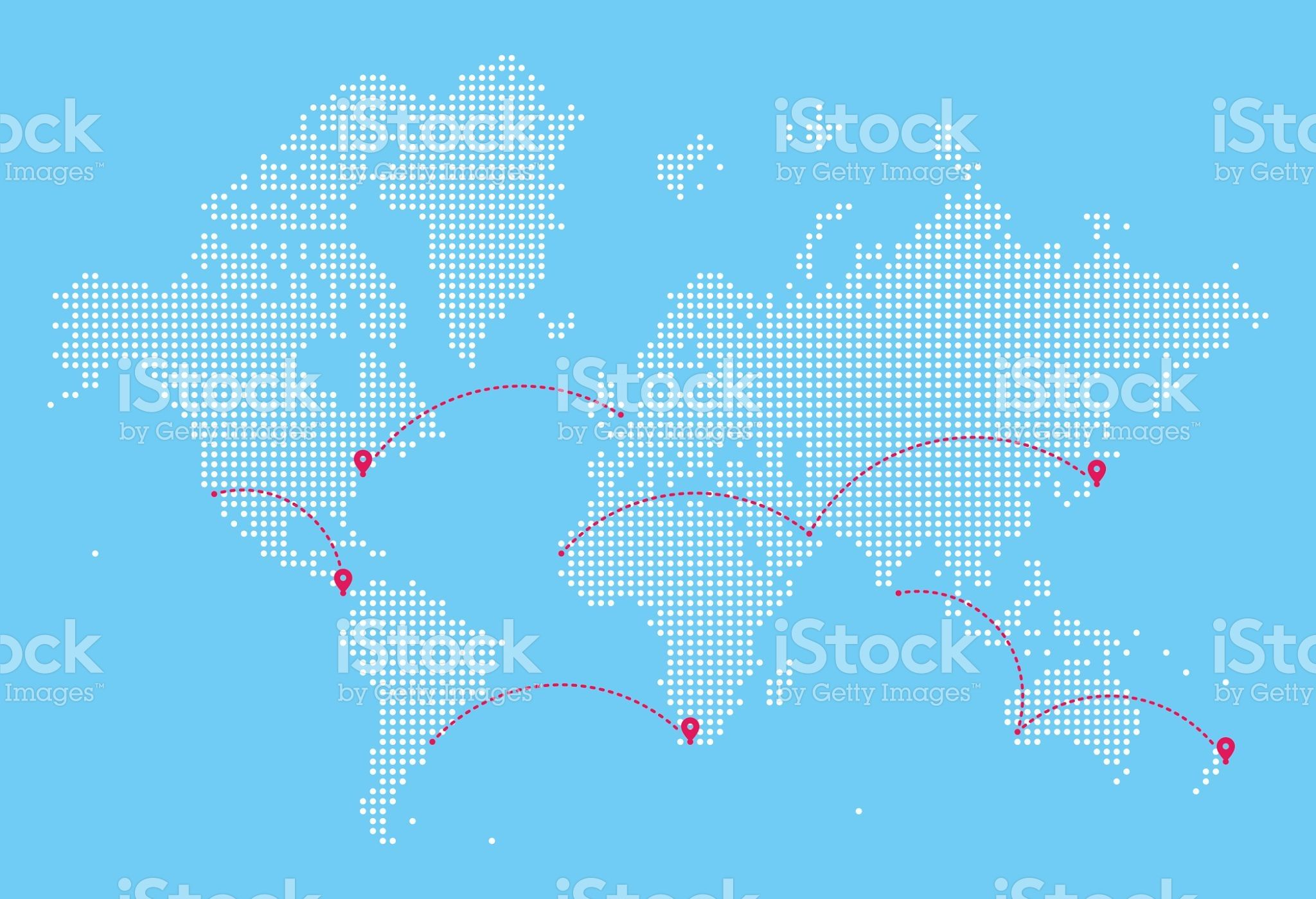 A detailed world map illustration made up of dots with flight path world map with flight paths royalty free stock vector art gumiabroncs Image collections
