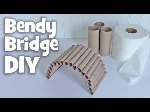 How To Make Hamster Toy Popsicle Stick Bridge Youtube
