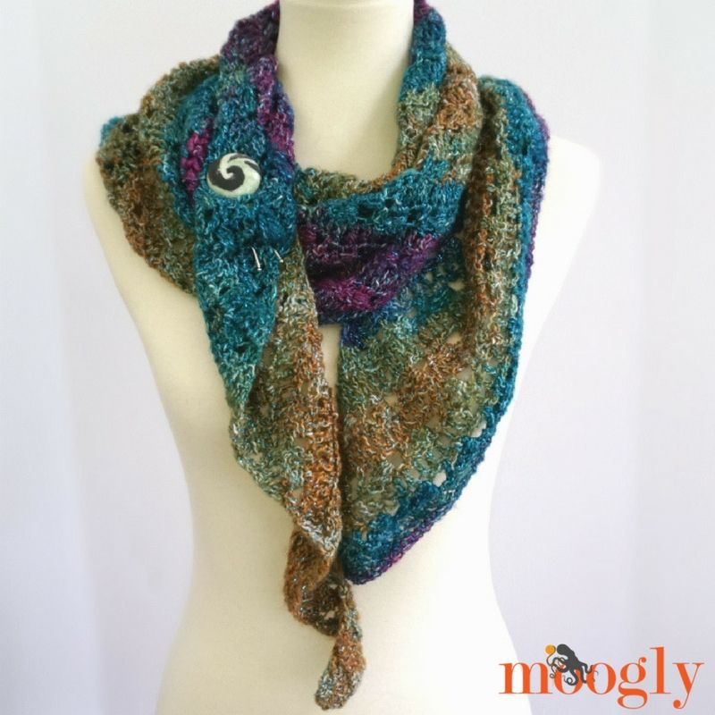 Tango Shawl - Free One Skein #Crochet Pattern on Moogly! | Pinterest ...