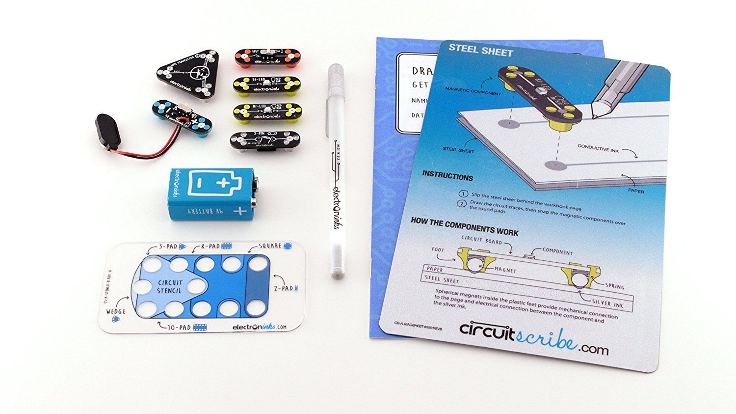 Circuit Scribe Basic Kit Includes Stem Workbook Conductive Pen Silver Ink And Everything