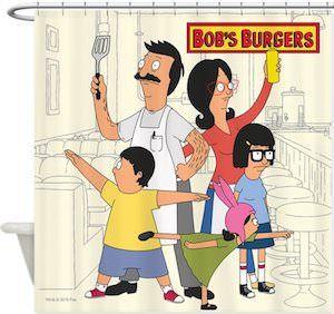 Bob S Burgers Family Shower Curtain Bobs Burgers Cartoon Styles