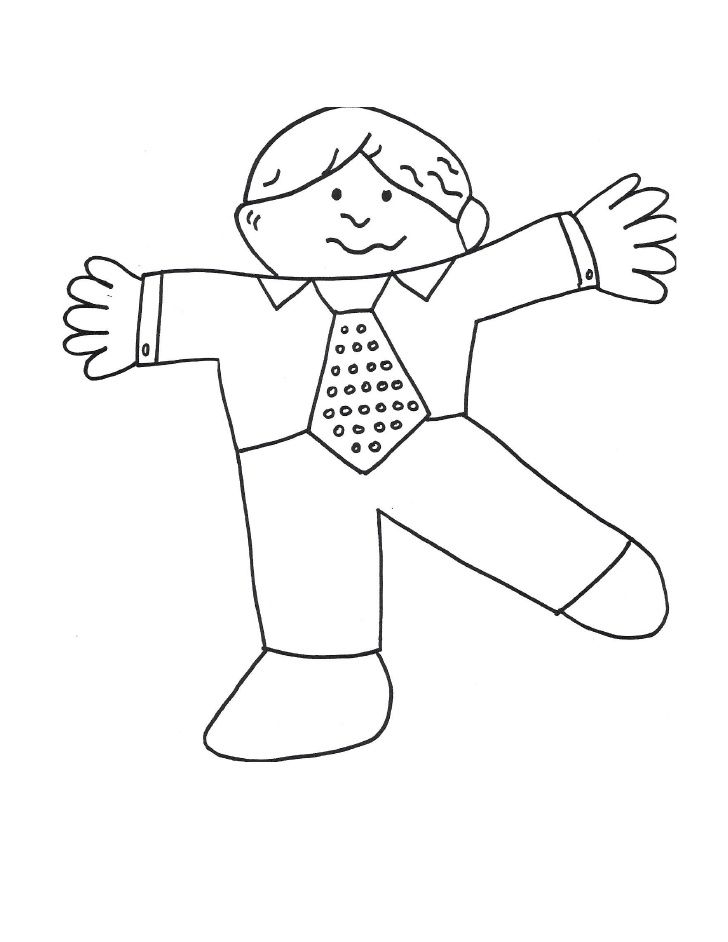 Flat Stanley Color Page Coloring Page