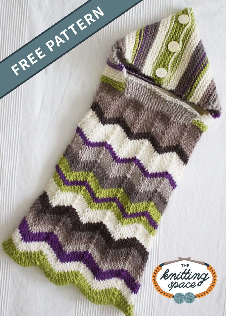 Galdur Knitted Baby Bunting Bag FREE Knitting Pattern in ...