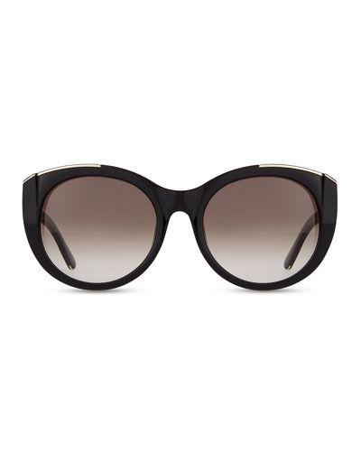 81ec3b47a1d Chloe Dallia Golden Arrow Round Sunglasses
