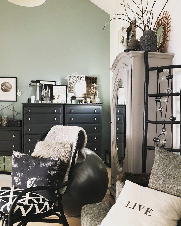 Graumix SoLebIchde Foto Catrin #solebich #wohnzimmer #ideen - wandgestaltung wohnzimmer grau
