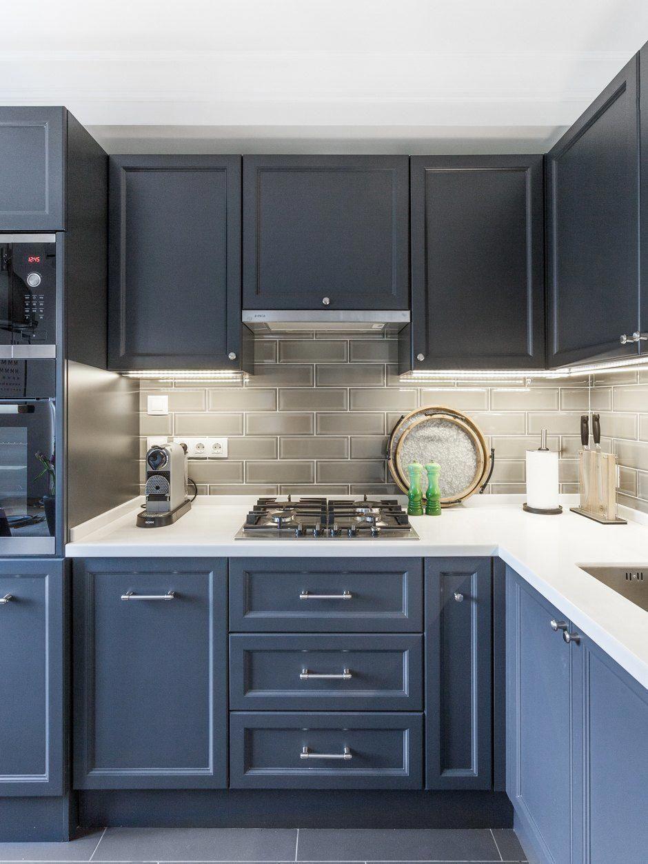 villagehomedecoration   Blue kitchen interior, Kitchen inspiration ...
