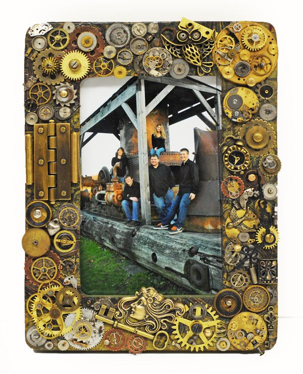 Diy steampunk picture frame sweet treats pinterest craft diy steampunk picture frame solutioingenieria Gallery