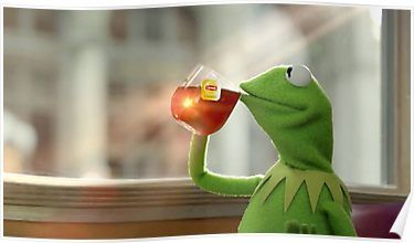 Kermit Sipping Tea Poster | Products | Kermit the frog ...