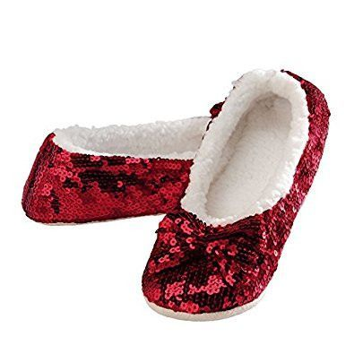 84fcd75bd51a30 Snoozies Brilliance Bling Sequin Ballet Flat Slippers with Micro Fleece