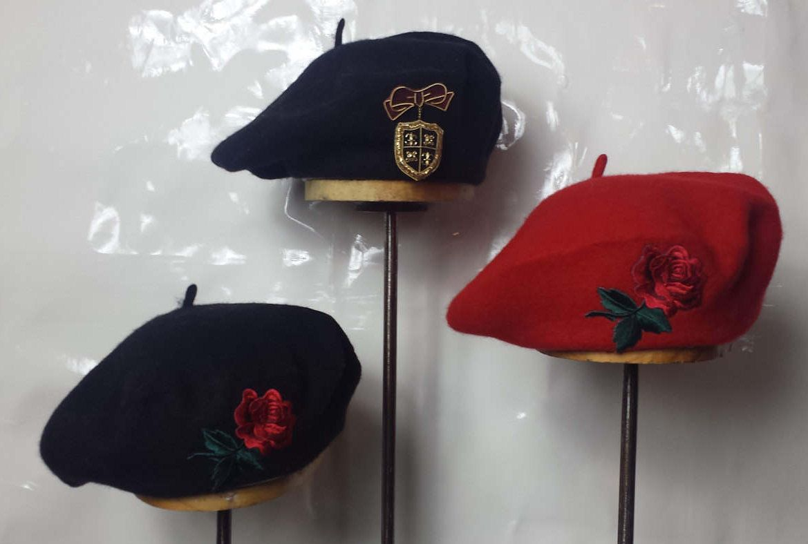 ce3bd9143f5aa ROSE BERETS black beret red beret red rose beret red roses berets black  berets red berets bow beret rose roses embroidery rose patch patches by ...