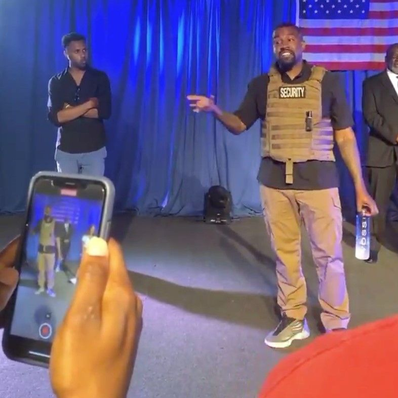Kanye West Holds His First Presidential Campaign Rally In 2020 Campaign Rally Presidential Campaign Kanye West