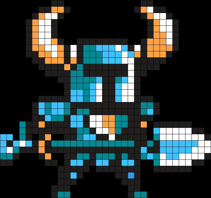 Shovel Knight Kandi Pattern Perler Bead Art Pixel Art Templates Perler Art