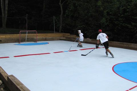 Delightful Hockey · Super Glide HD Backyard Rink Idea