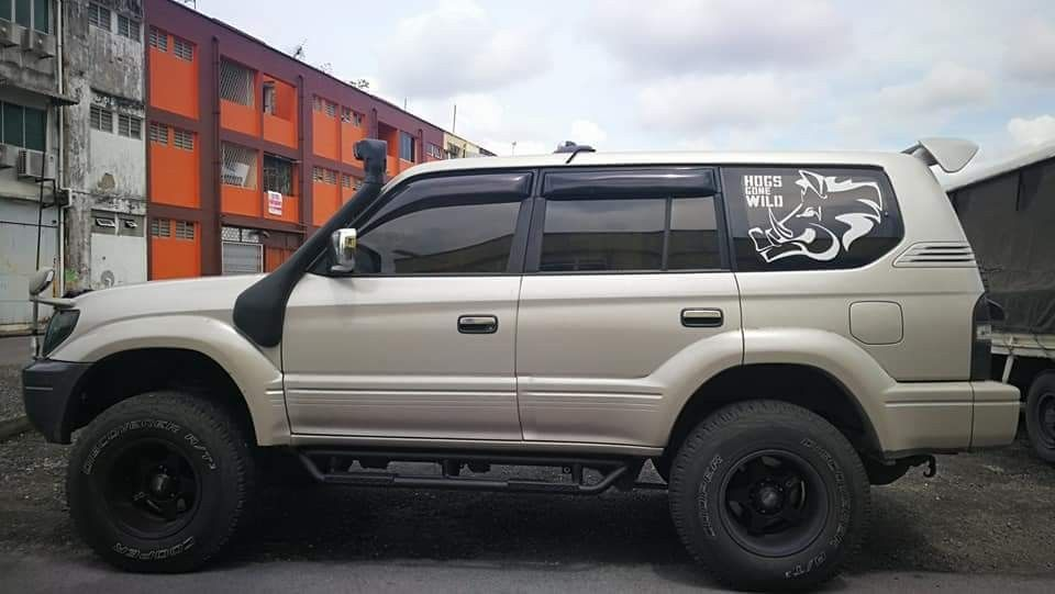 Toyota Land Cruiser Prado J120 series body decal sticker *2