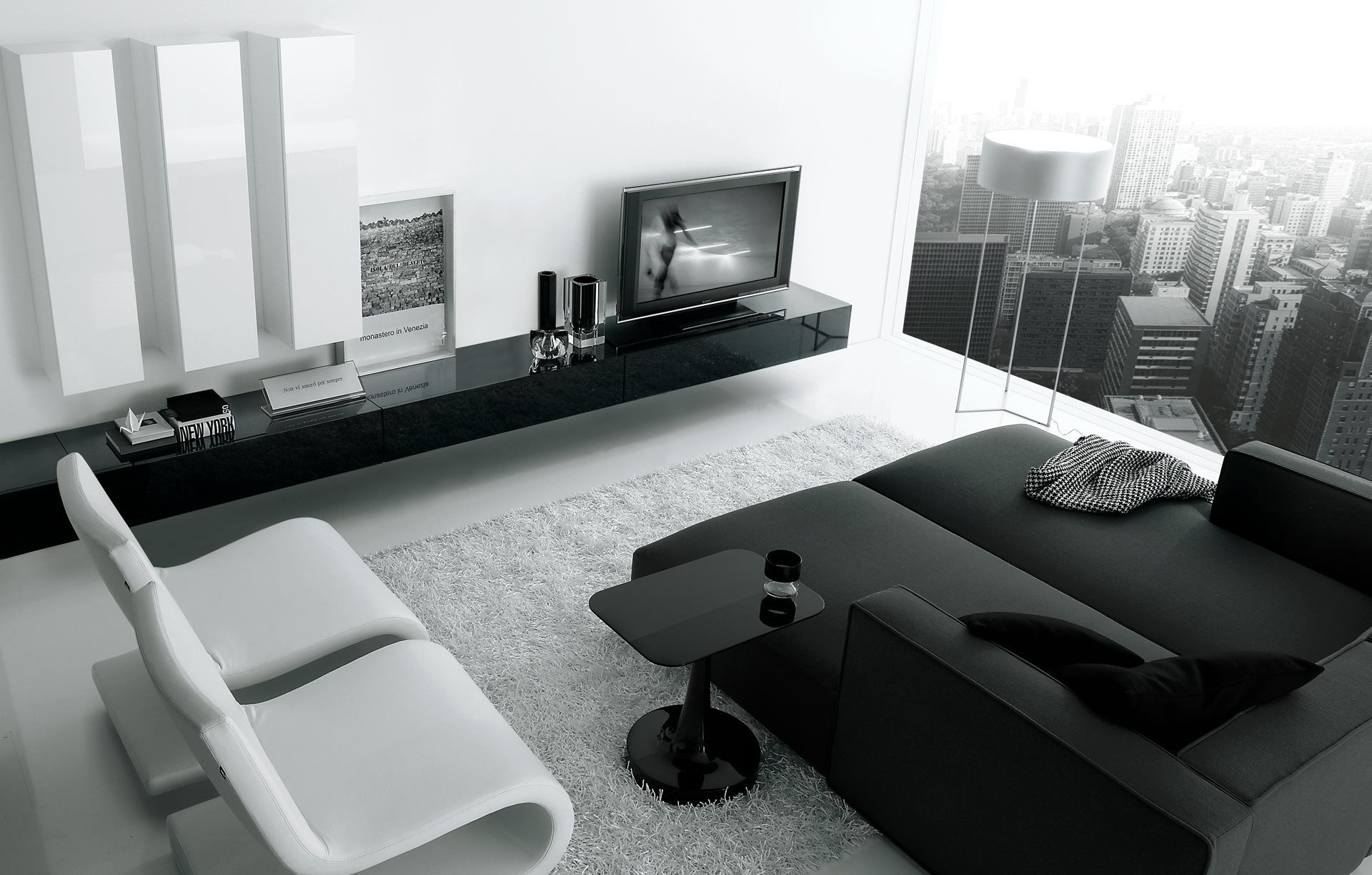 Tv En Audio Oplossing Van Poliform Living Room Pinterest  # Meuble Tv Carlo