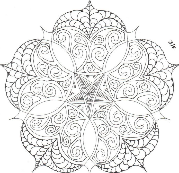 i 39 d change the star in the middle but otherwise this is cool mandala pinterest coloring. Black Bedroom Furniture Sets. Home Design Ideas
