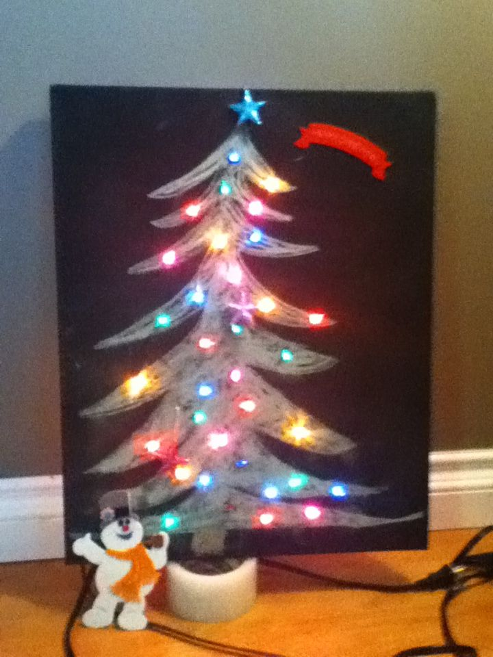 What A Cool Idea A Canvas That We Spray Painted With Black