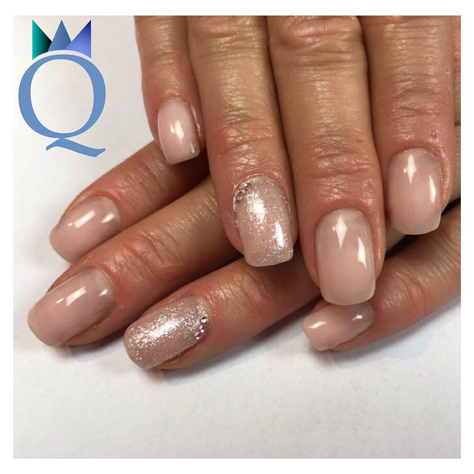 shortnails #gelnails #nails #white #glitter #kurzenägel #gelnägel ...