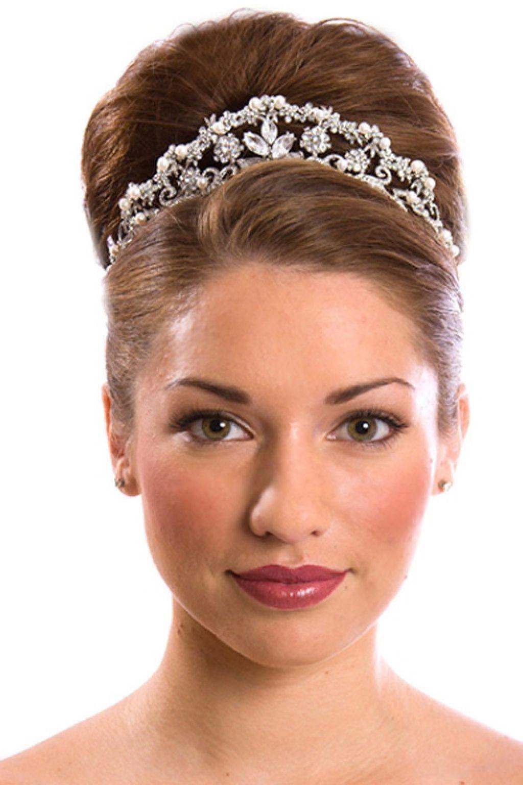 Wedding Hairstyles With Tiara Updo Tiara Hairstyles Wedding Hairstyles Bride Long Hair Styles
