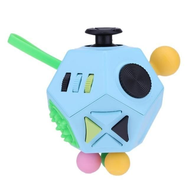 12 Sided Anti Stress Fidget Cube Fidget Cube Stress Relief Toys Stress Cube