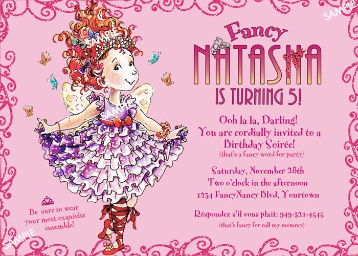 fancy nancy invitation template home fancy nancy invitation