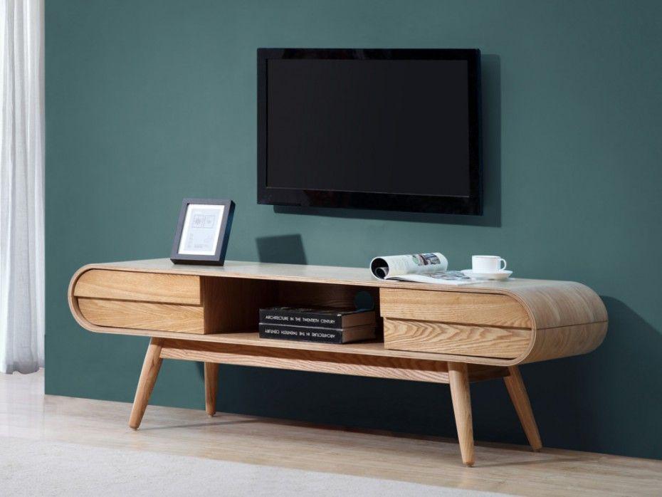 meuble tv daven 2 tiroirs 1 niche