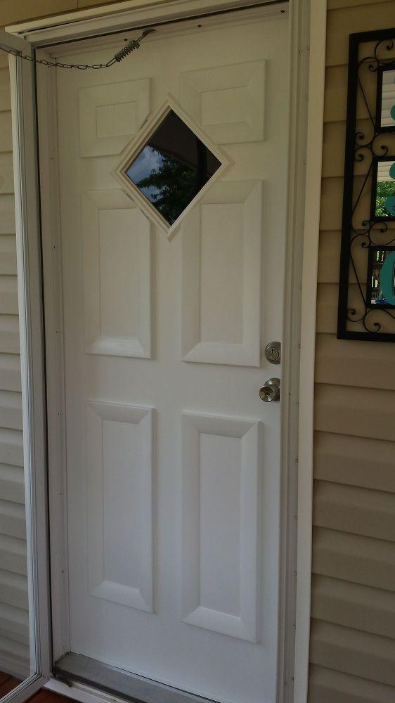 Door Facelift Mobile Home Doors Door Makeover Front Door Makeover