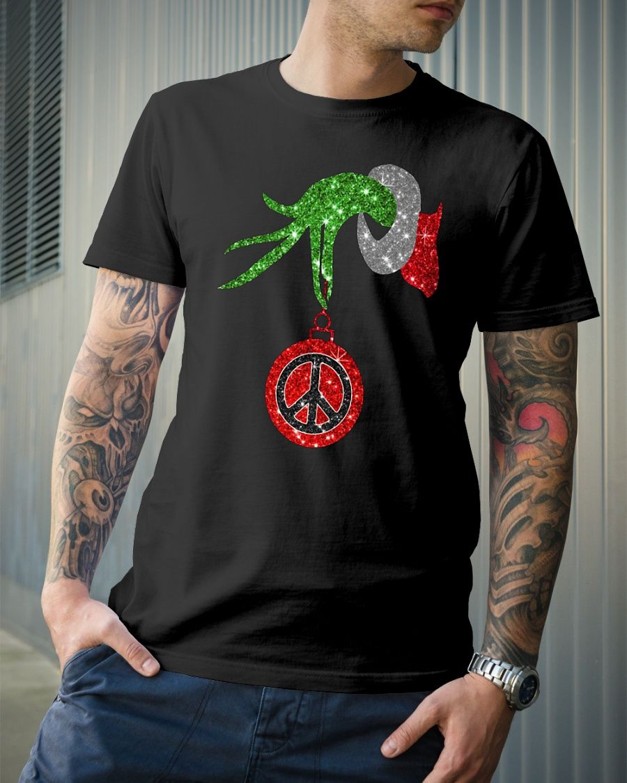 The Grinch Holding A Hippie Ornament Shirt Hippie Shirts Movie Shirts