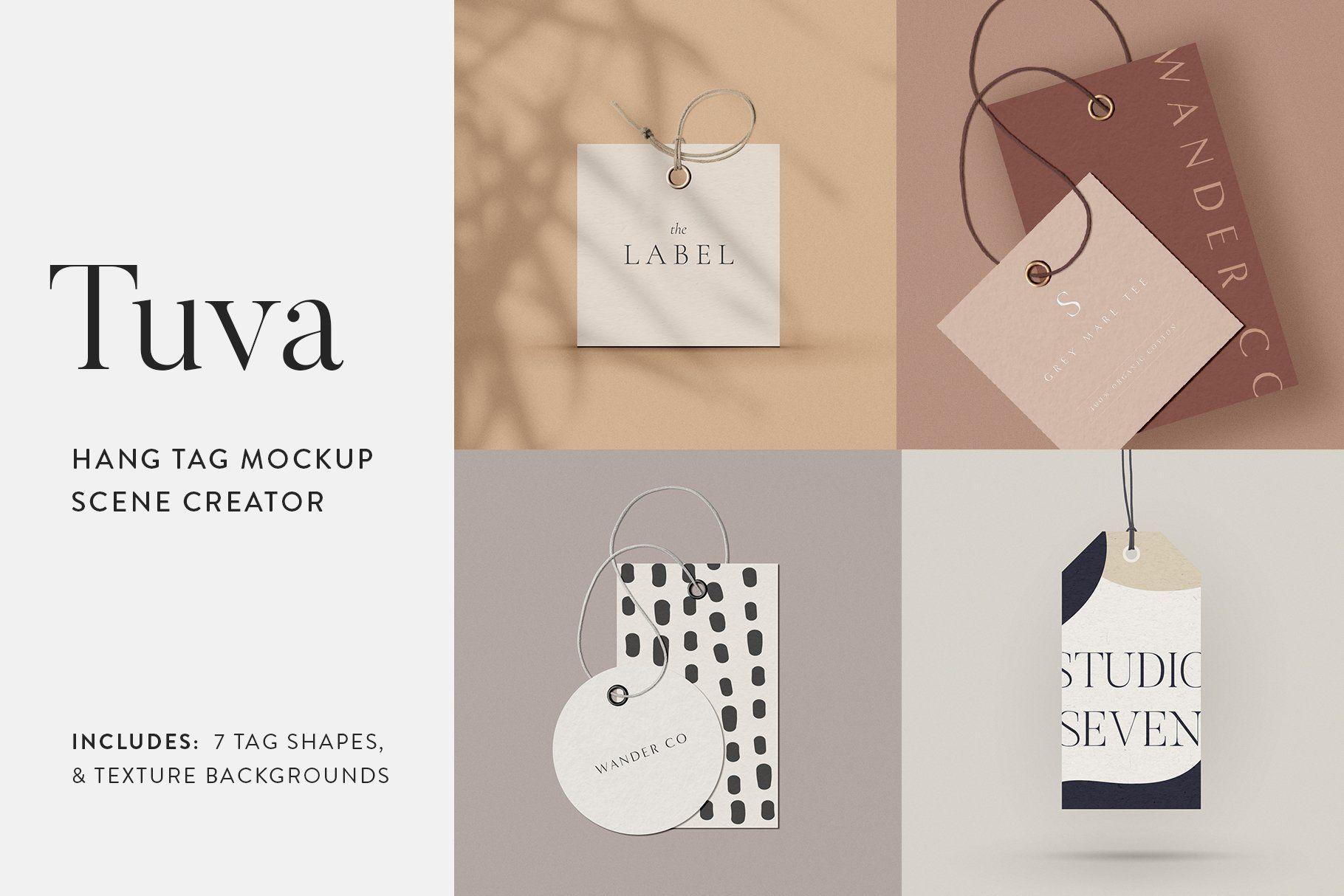 Tuva Hang Tag Mockup Scene Creator Moyo Studio Hang Tag Design Hang Tags Scene Creator