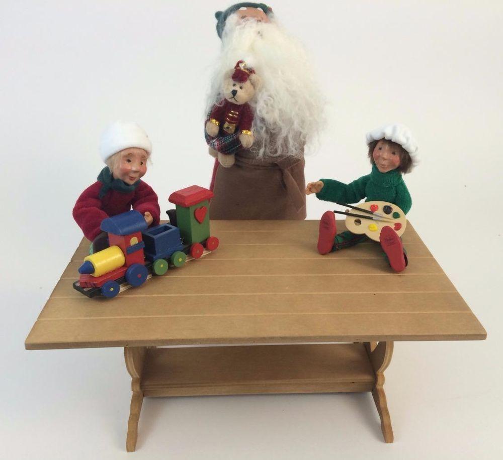 Dickens Era Christmas Carolers Wood Standups Woodworking: Byers Choice Christmas Santa Toy Maker Caroler + Wood