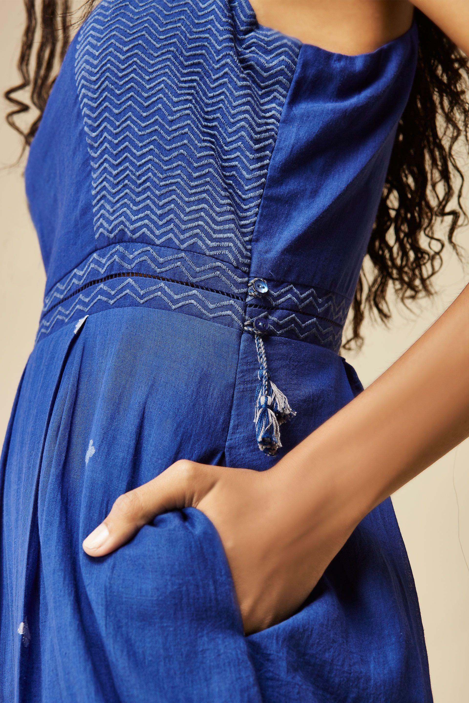df2677bfd54 Handwoven Jamdani Strappy Midi Dress