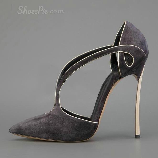 Elegant Contrast Color Stiletto Heels