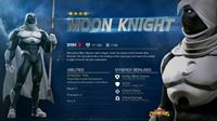 'The bearer of the mantle of Khonshu and a spector of vengeance, Moon Knight has joined the Contest!'