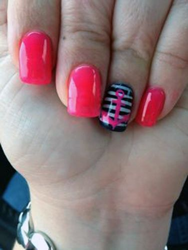 Simple Cute Sailor Nail Art For More Nail Art Ideas Visit Www