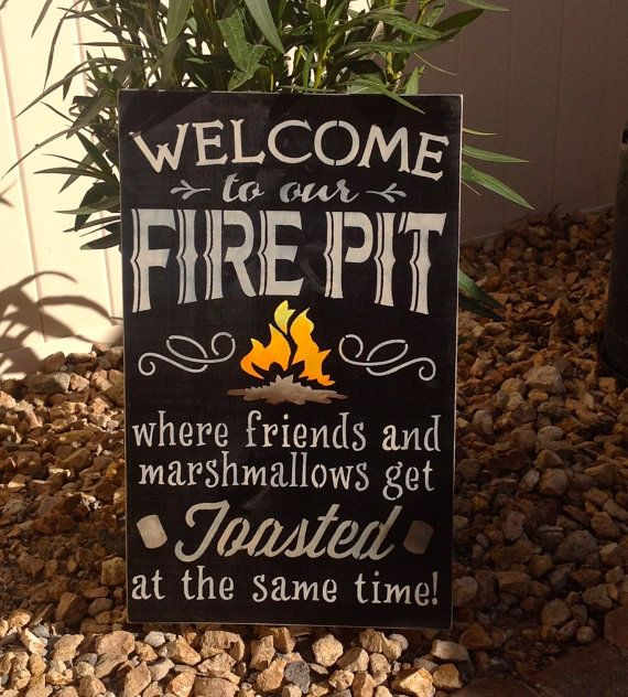 Medium Size-Welcome To Our FIRE PIT Where Friends by CindiZsThings