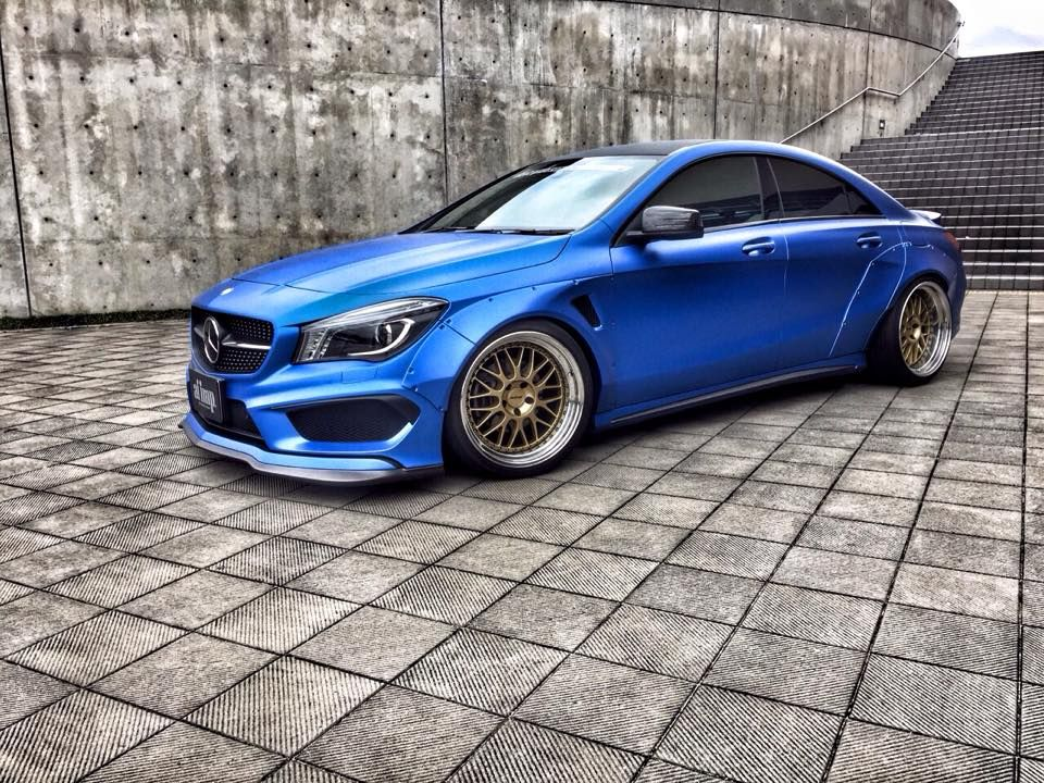 A japanese tuning shop called fairy design developed a for Mercedes benz auto body shop