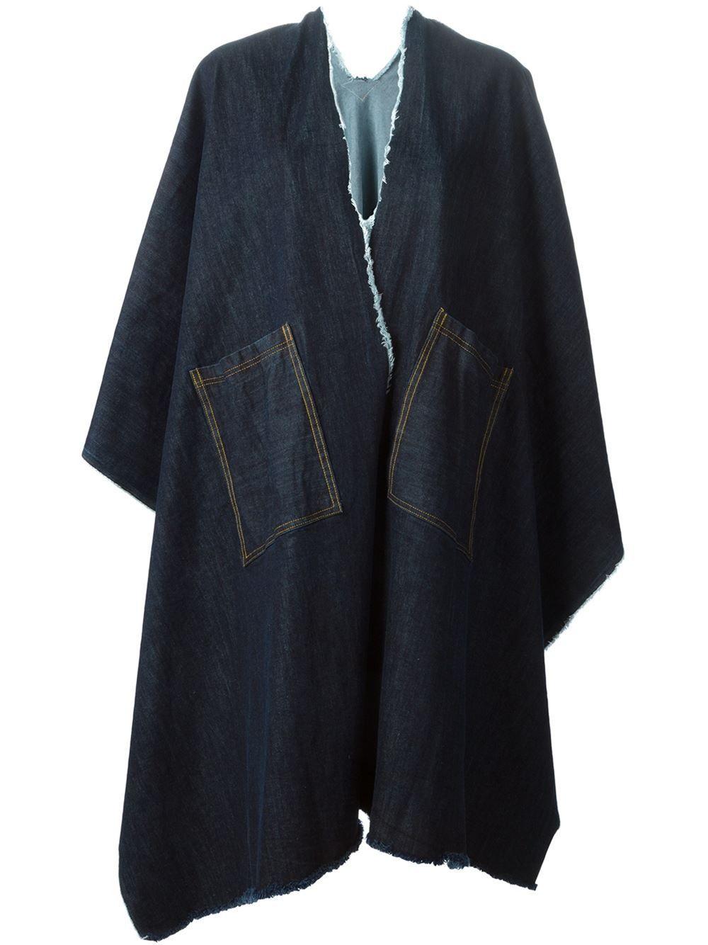 Ermanno Gallamini Oversized Denim Coat -