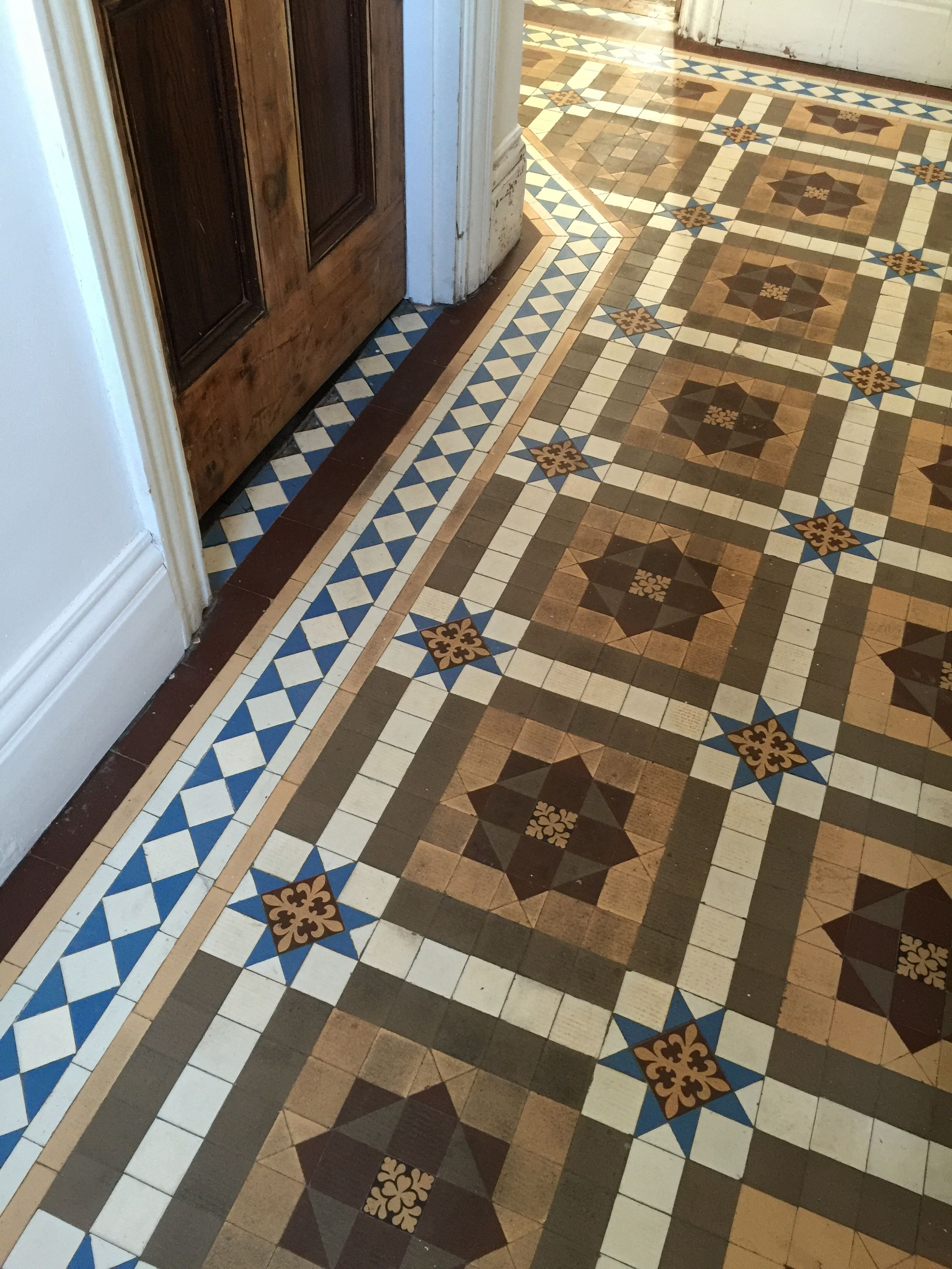 Hallway During Edwardian House Renovation Restoration Minton