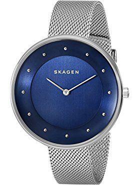 Skagen Women's SKW2293 Gitte Stainless Steel Mesh Watch ❤ Skagen Watches