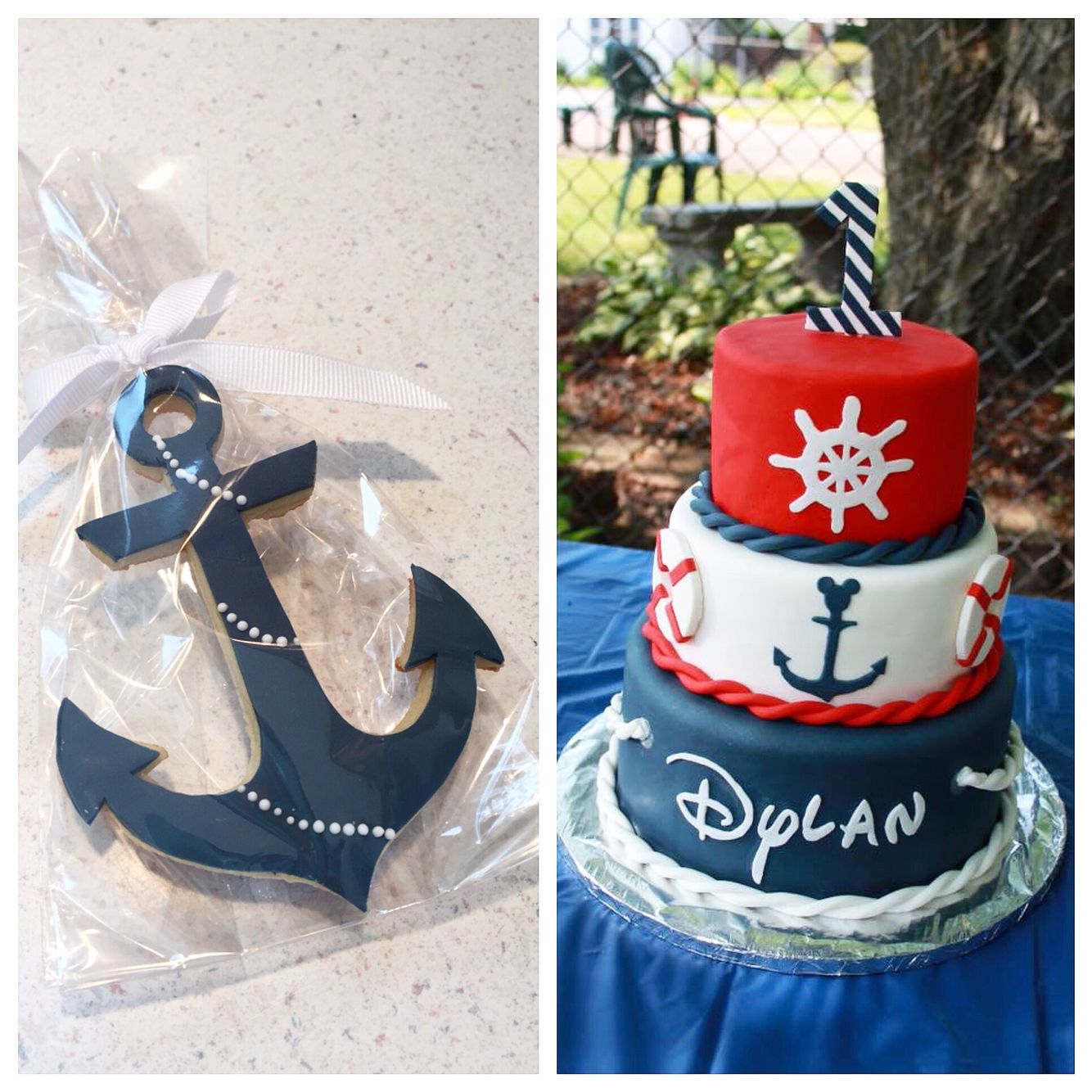 Nautical Disney Cake by Confections by Courtney