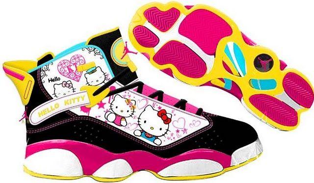 buy popular 4cb70 2da7e Hello Kitty Jordan Sneakers!   LUUUX