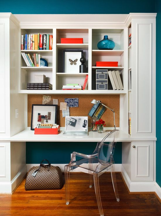 Built In Desk With Storage Above For My Home Office Home Office Design Home Office Decor Contemporary Home Office