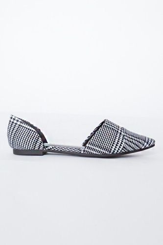Pixie Market Houndstooth Pointed Flats