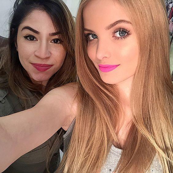 Maquiagem feita na atriz Giovanna Chaves para o canal do youtube dela
